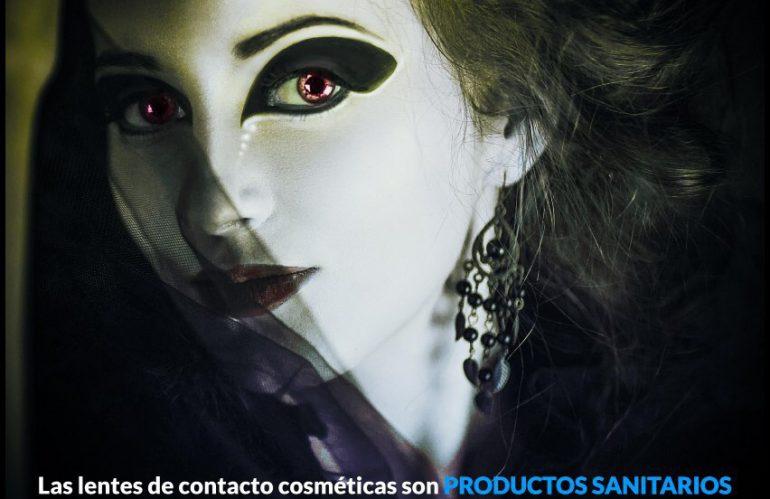 Venta de lentes de contacto de fantasía para Halloween.